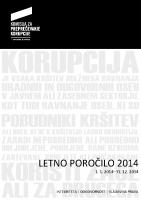 Letno poročilo KPK 2014
