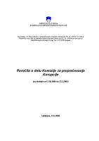 Poročilo za delo v 2004