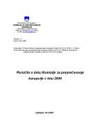 Poročilo za delo v 2006