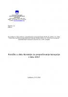 Poročilo za delo v 2007