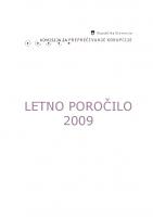 Poročilo za delo v 2009