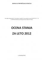 Ocena stanja 2012