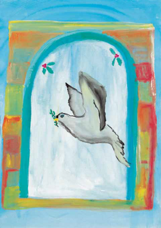 Gašper Brdnik, II. OŠ Žalec, Likovni motiv Ptica miru