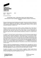Obvestilo javnosti – Tomaž Drolec