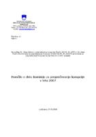 Letno poročilo 2007