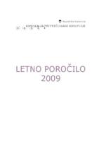 Letno poročilo 2009